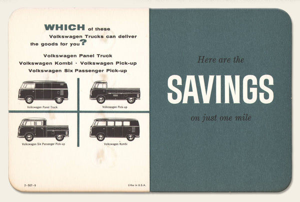 1959 Volkswagen Savings Folder/Brochure