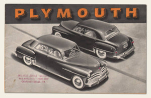1950 Plymouth Brochure