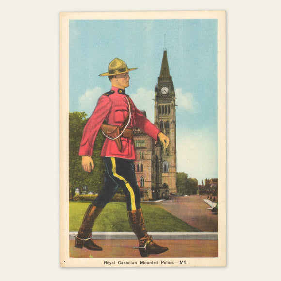 1930s Royal Canadian Mounted Police Postcard
