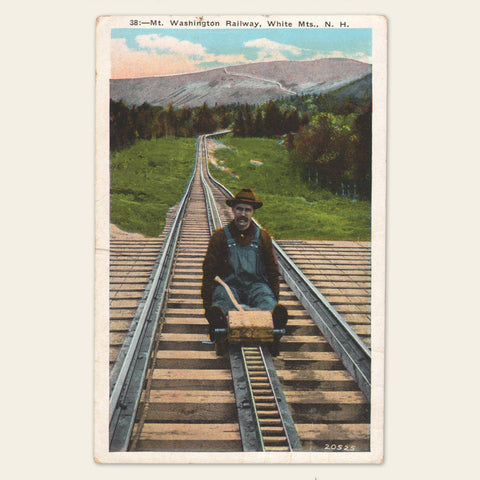 (2) 1930s/40s Mt. Washington Cog Railway Postcard