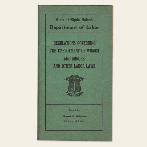 1936 Rhode Island Department of Labor Regulations