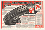 1927 Rowen Battery Supply Co. Tires Mailer