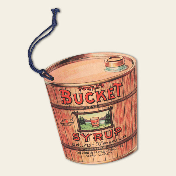 1920s Towle's Bucket Syrup tag