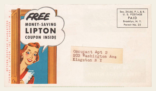 1951 Lipton Tea Coupon Mailer