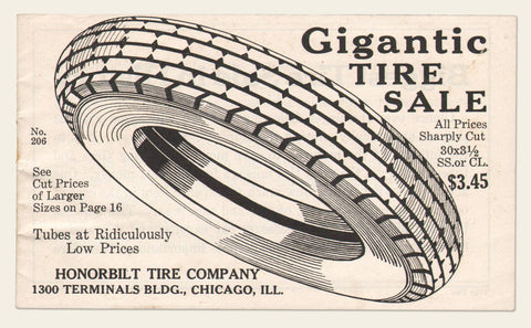1920s Collection of Auto Tires and Seat Cover Ephemera