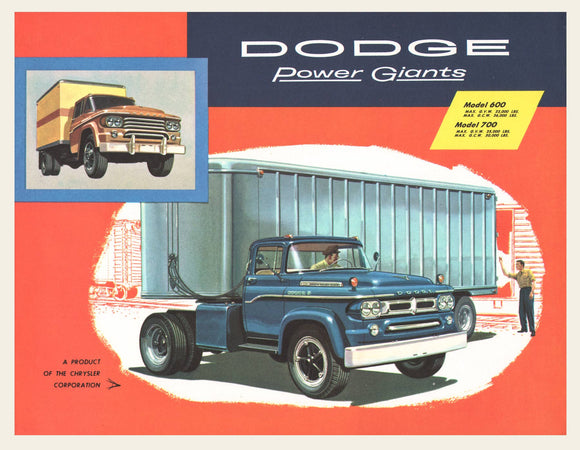 1958 Dodge Power Giants Truck Brochure