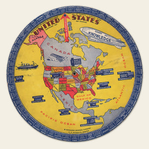"1931 US States ""Chart of Knowledge"""