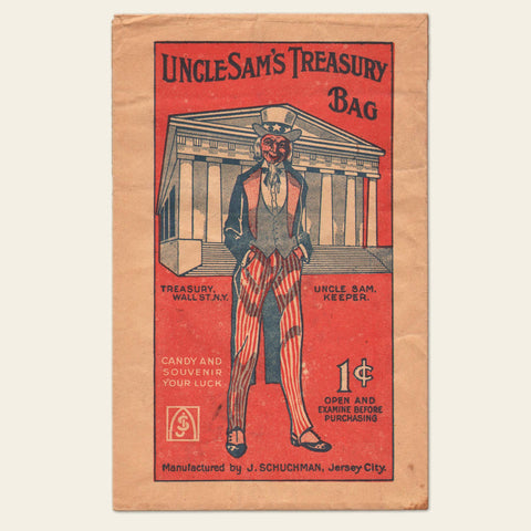 Early 20th Century - Uncle Sam's Treasury (Souvenir) Bag