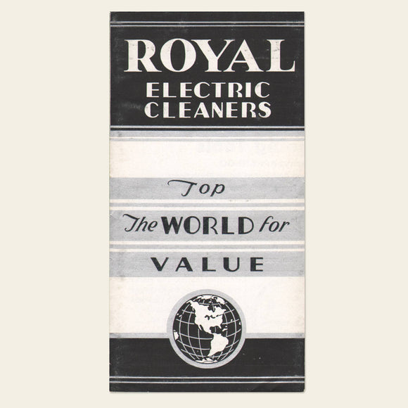 1930s Royal Electric Vac Brochure