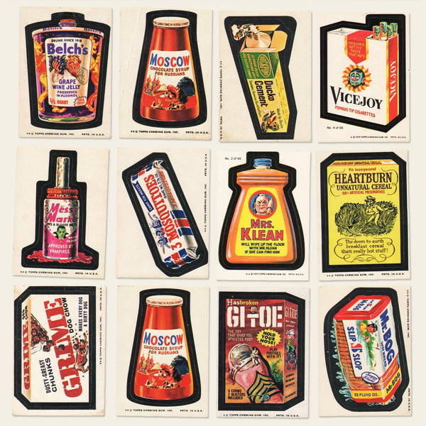 1974 and 1979 Wacky Packages