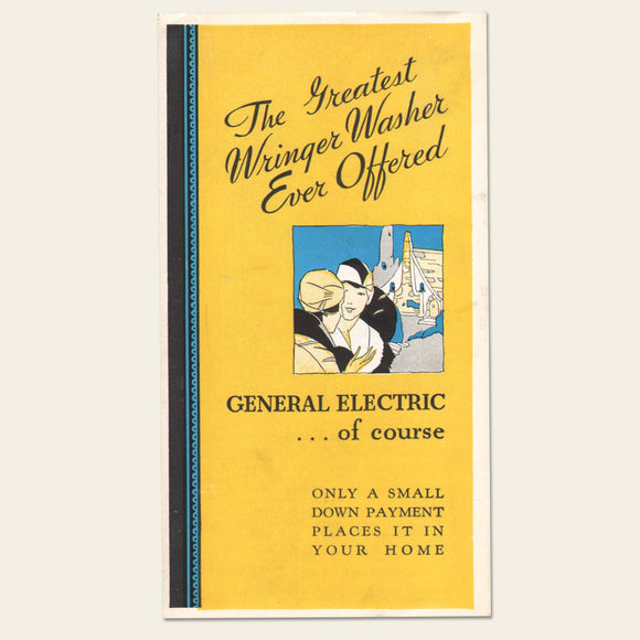 1932 General Electric Wringer Washer Brochure