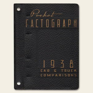 1938 Ford Car Truck Lincoln Zephyr Factograph Book
