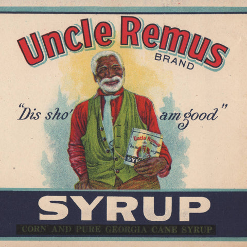 Large 1923 Uncle Remus Syrup Label
