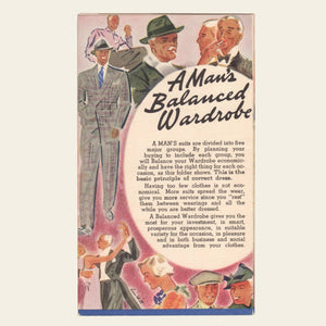 1930s M. Cook & Sons Men's Fashion Brochure