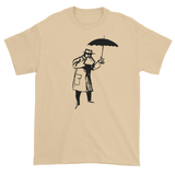 T-shirt with man and umbrella