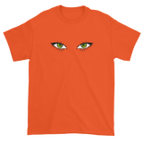 T-shirt with green eyes