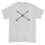 T-shirt with cross wrench