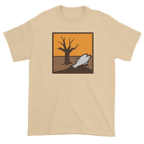 T-shirt with dead fish