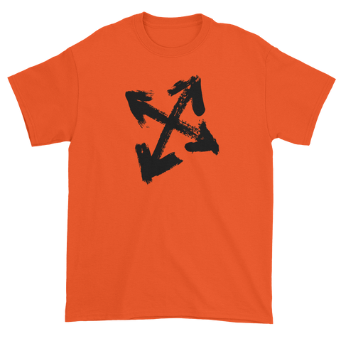 T-shirt with arrows