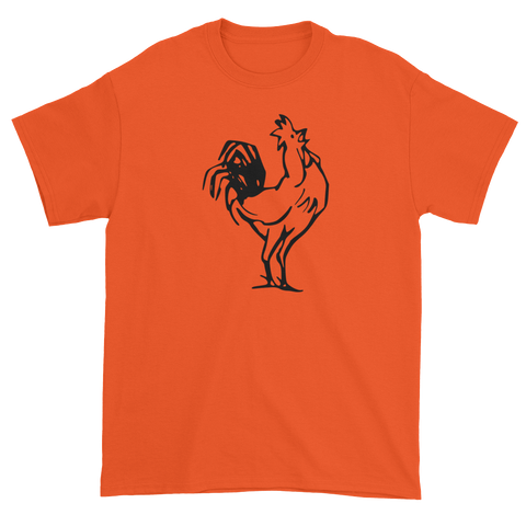 T-shirt with crowing rooster