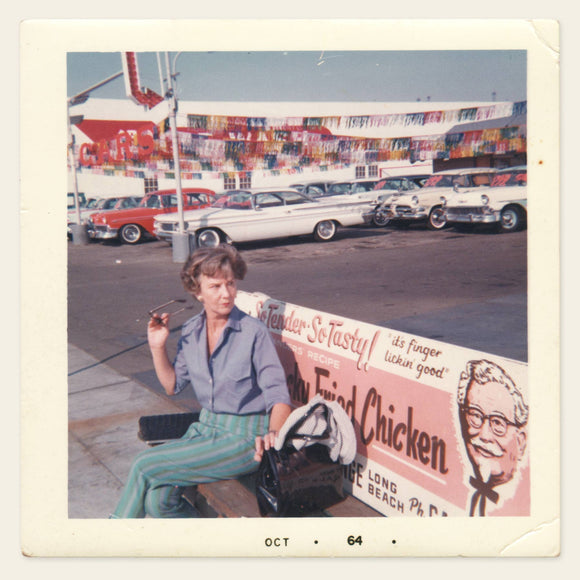 1964 Photo of a Woman on KFC Bench