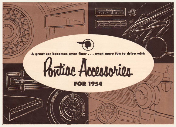 1954 Pontiac Accessories Brochure