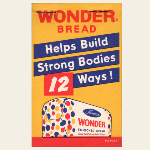 1957 Wonder Bread (small pad) NOS