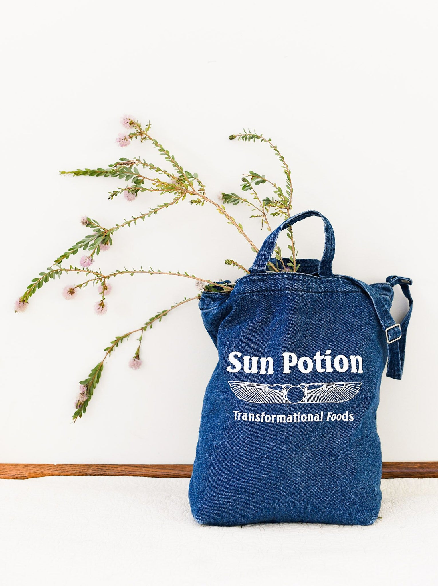 Sun Potion Denim Tote (100% Cotton)