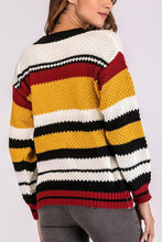 Load image into Gallery viewer, Round Neck  Striped Sweaters