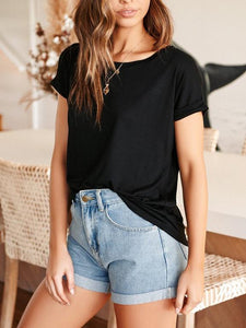 Fashion Casual Wild Color   T-Shirt Top(Video)