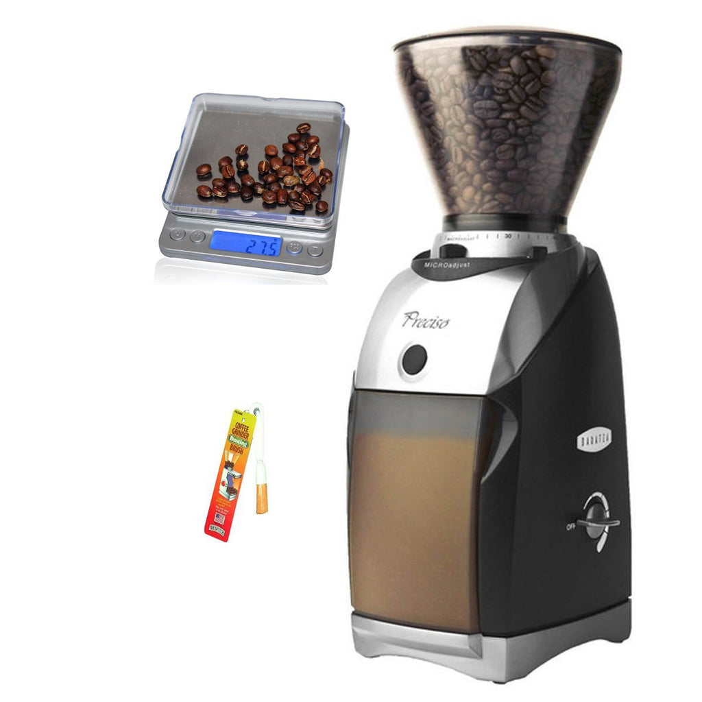 Baratza Preciso Conical Burr Coffee Grinder with Coastline Digital Pocket Scale and Grinder Brush … - Batch Coffee - Same Day Shipping!