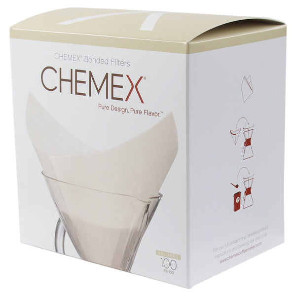 Chemex FS-100 Coffee Filters with 100-Chemex Bonded Filter Squares - Batch Coffee - Same Day Shipping!