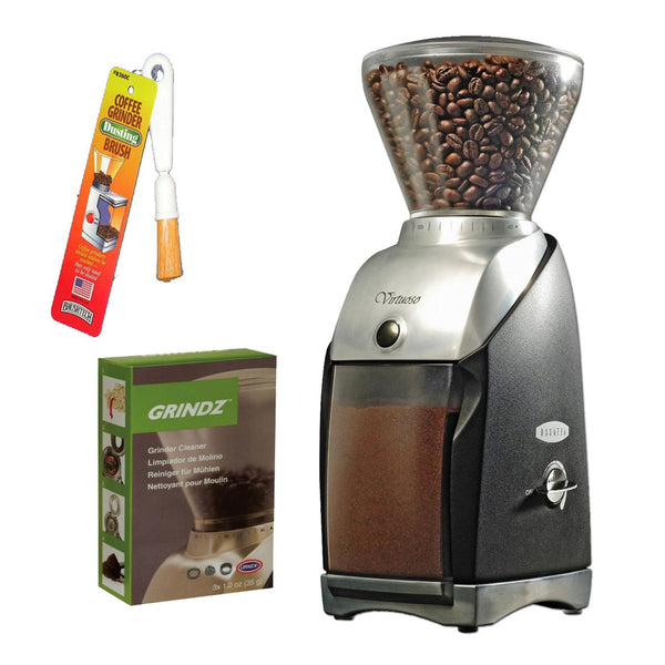 Baratza 586 Virtuoso Coffee Grinder + 3-pack 35G Grindz Coffee Grinder Cleaner + Coffee Grinder Dusting Brush … - Batch Coffee - Same Day Shipping!