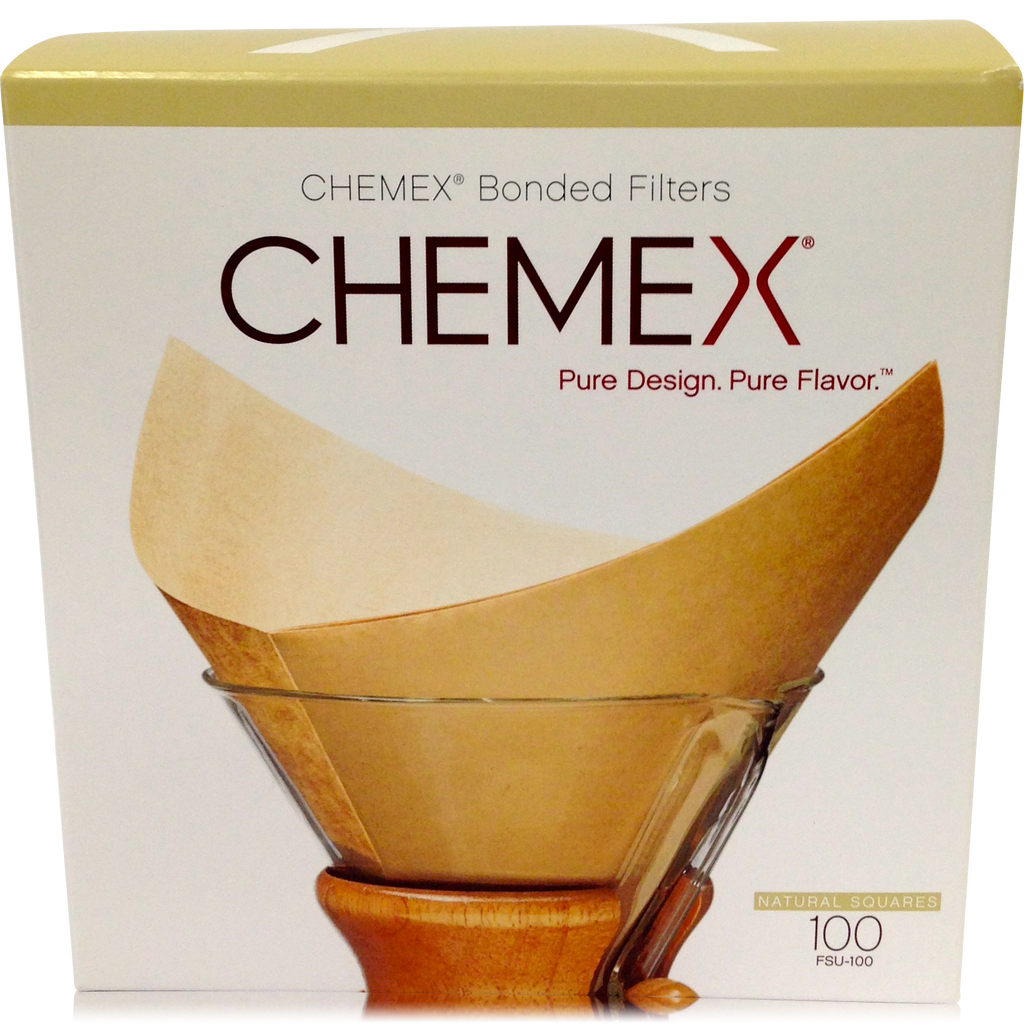 Chemex Bonded Unbleached Filter Squares - 100 count - Batch Coffee - Same Day Shipping!