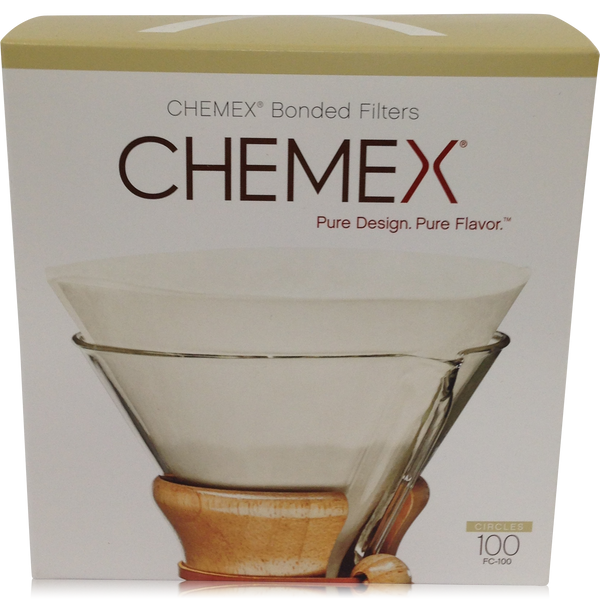 Chemex Pre-folded Circle Coffee Filters - 100 count - Batch Coffee - Same Day Shipping!