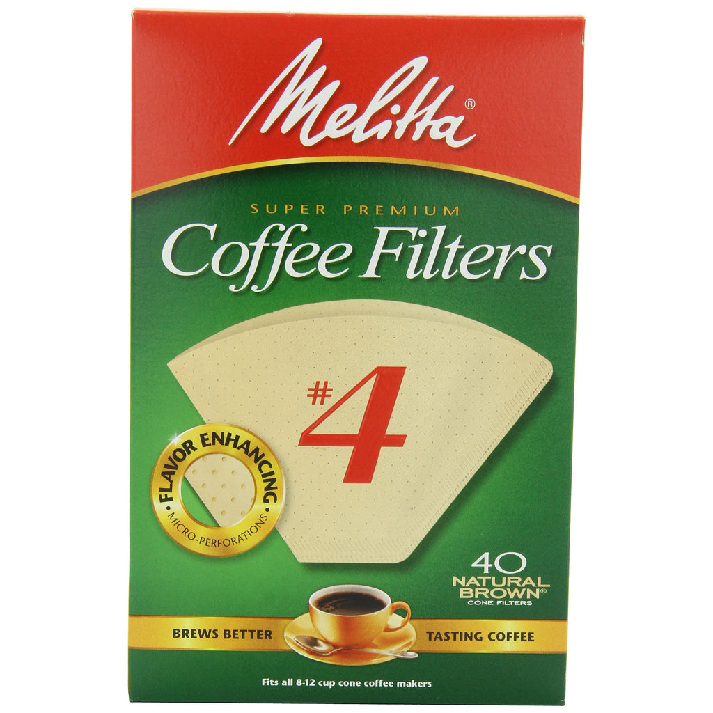 Melitta No 4 Cone Filter Natural Brown 40 Count - Batch Coffee - Same Day Shipping!
