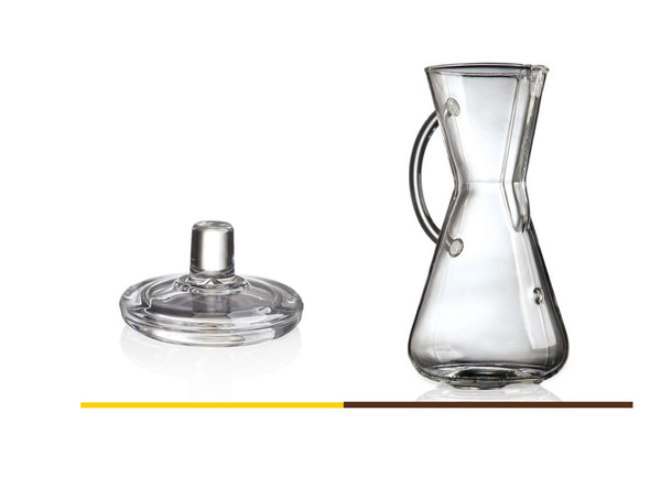 Chemex Bundle: Chemex 3-Cup Glass Handle Coffee Maker with Chemex Glass Coffee Maker Lid (Bundle) … - Batch Coffee - Same Day Shipping!