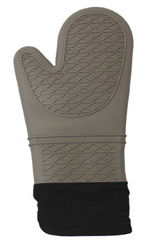 CoastLine Silicone Quilted Professional Oven Mitt Potholder | High-Temperature Heat Resistant Silicone Oven Mitt with Extra Grip & Heat Resistant Lining - Batch Coffee - Same Day Shipping!