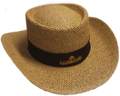 Golf Shape Straw Hat with Liner