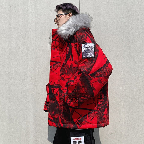 Parka d'Hiver Camouflage The New World