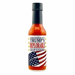 President Trump's DEPLORABLE Habanero Hot Sauce