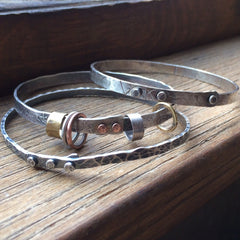 Riveted Bangle Bracelets