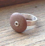 Riveted Stone Ring