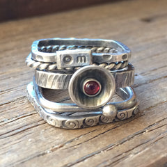 Stacking Rings w/Stone