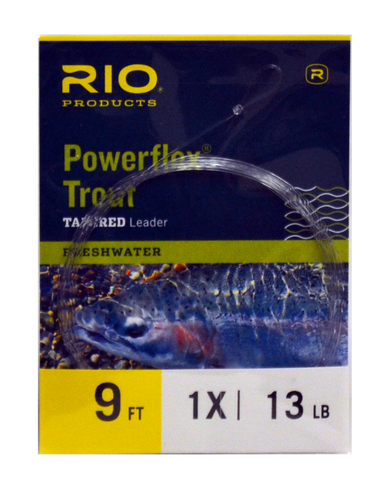 Rio Powerflex Tapered Leaders - single pack- 9.0'
