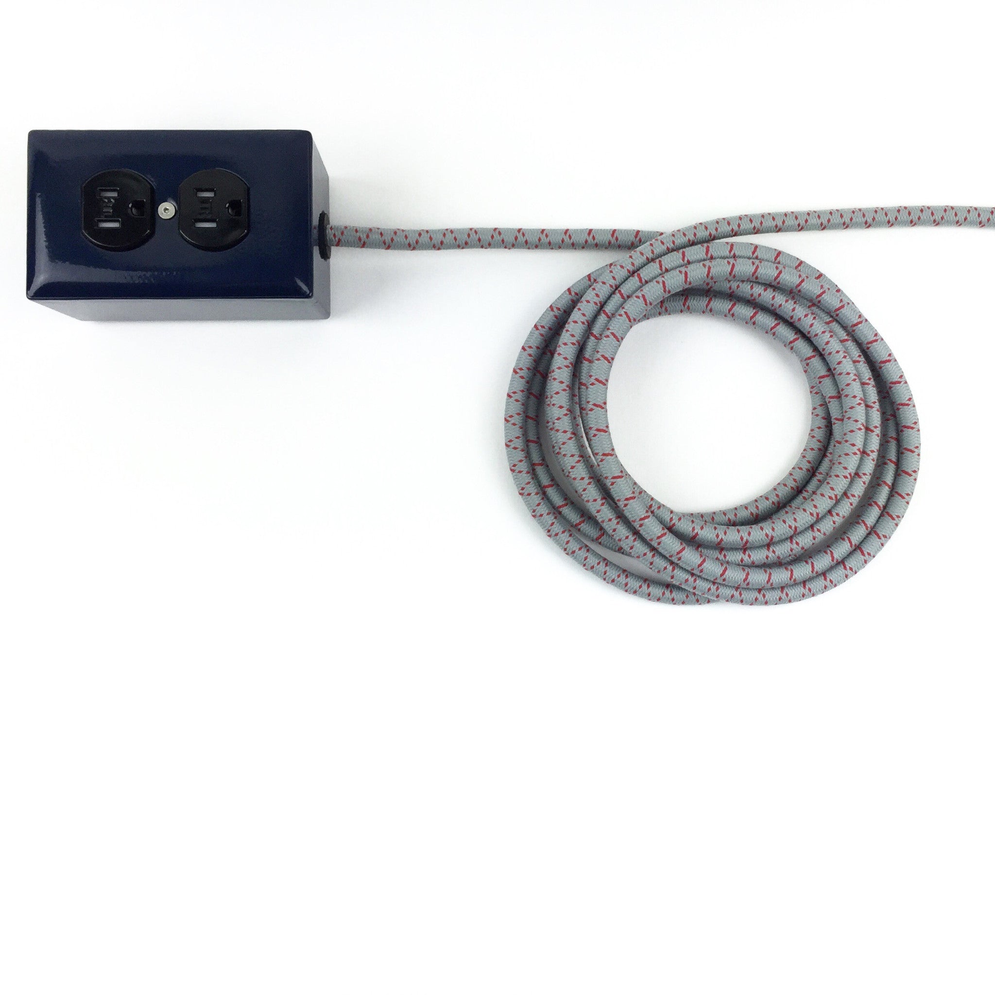 New! Navy Blue Extō - A Modern Dual-Tamper-Resistant Outlet, 13-AMP Extension Cord