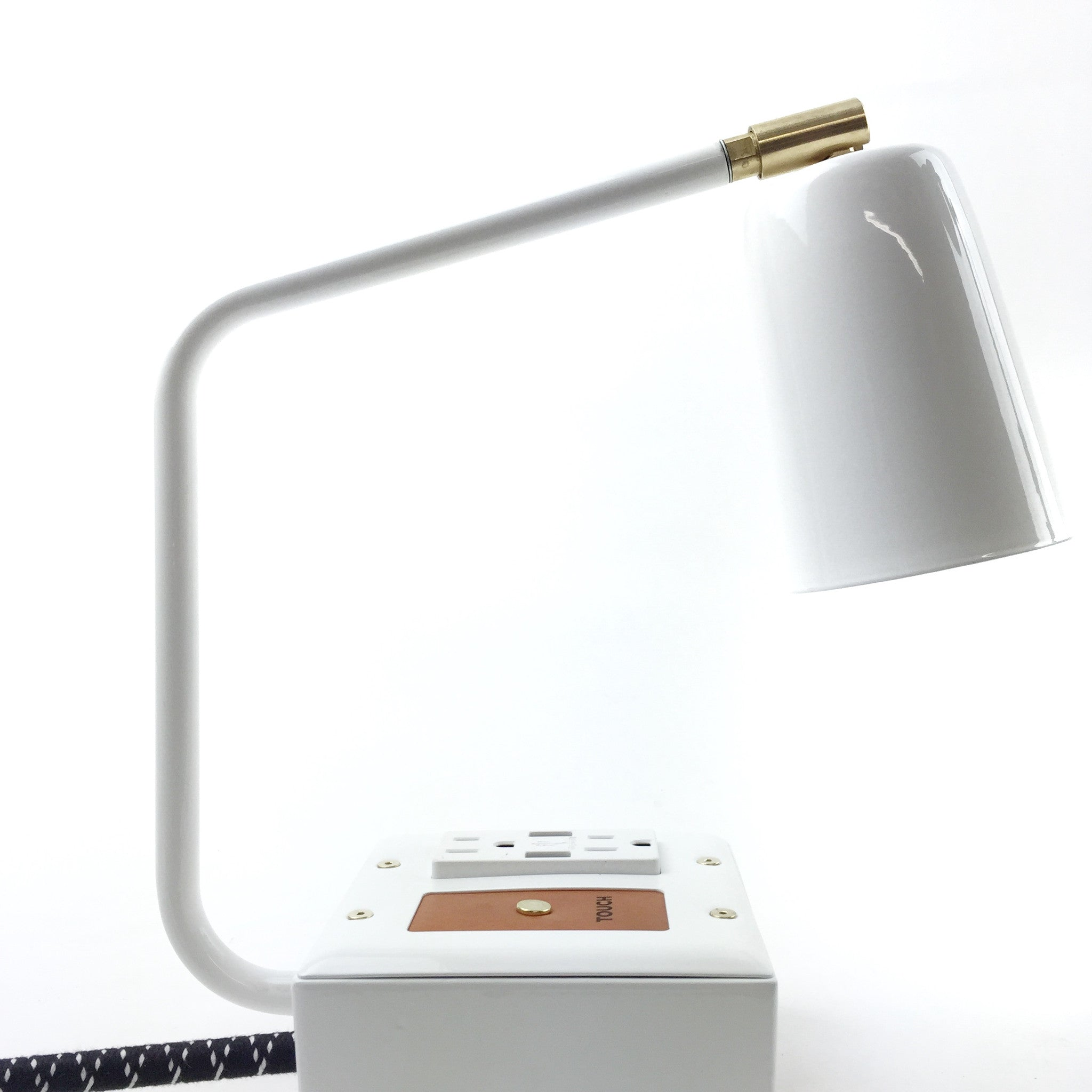 JAX Touch Smart USB and USBC Surge-Protected Task Lamp Aspen White