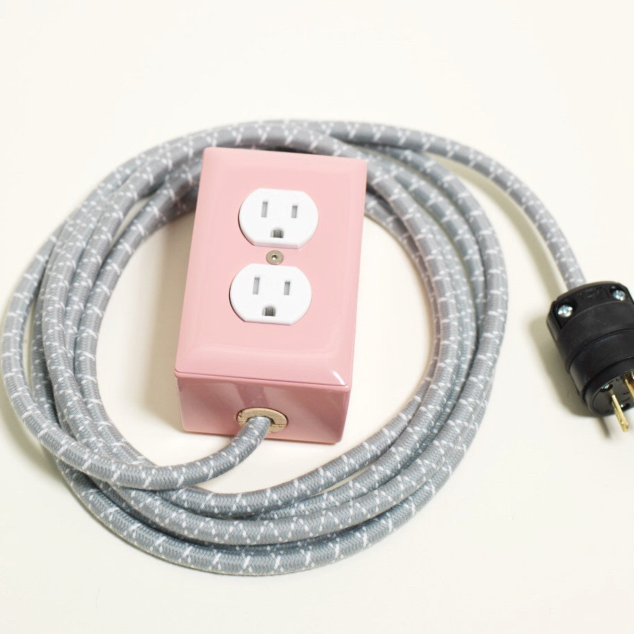 12 Ext Candy Pink Extension Cord For Nordstrom The Conway 24 Volt Wiring Plug And Receptacle Dual Outlet A Modern Tamper Resistant 13 Amp