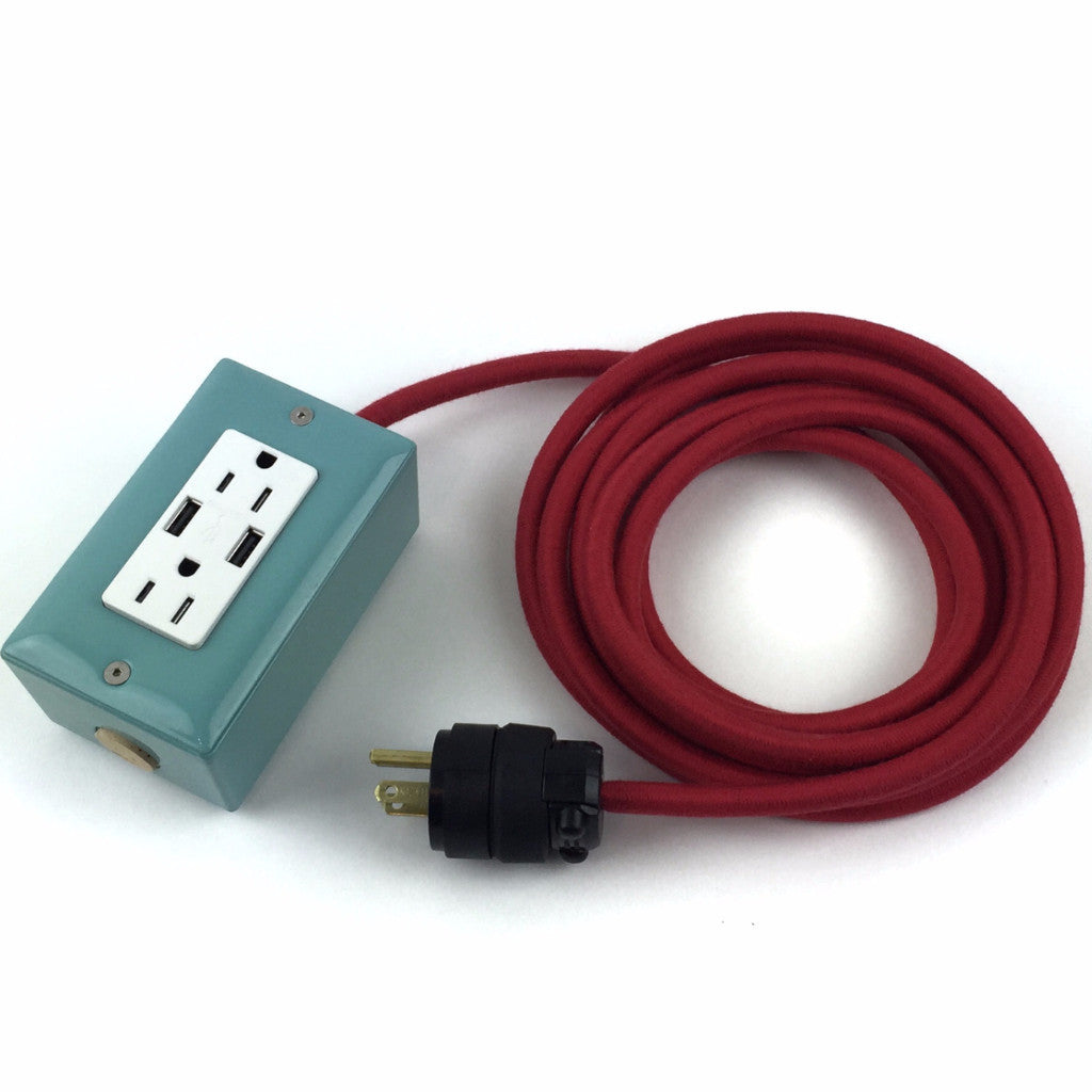 the first smart chip extension cord 12u0027 ext dualusb dualoutlet mint
