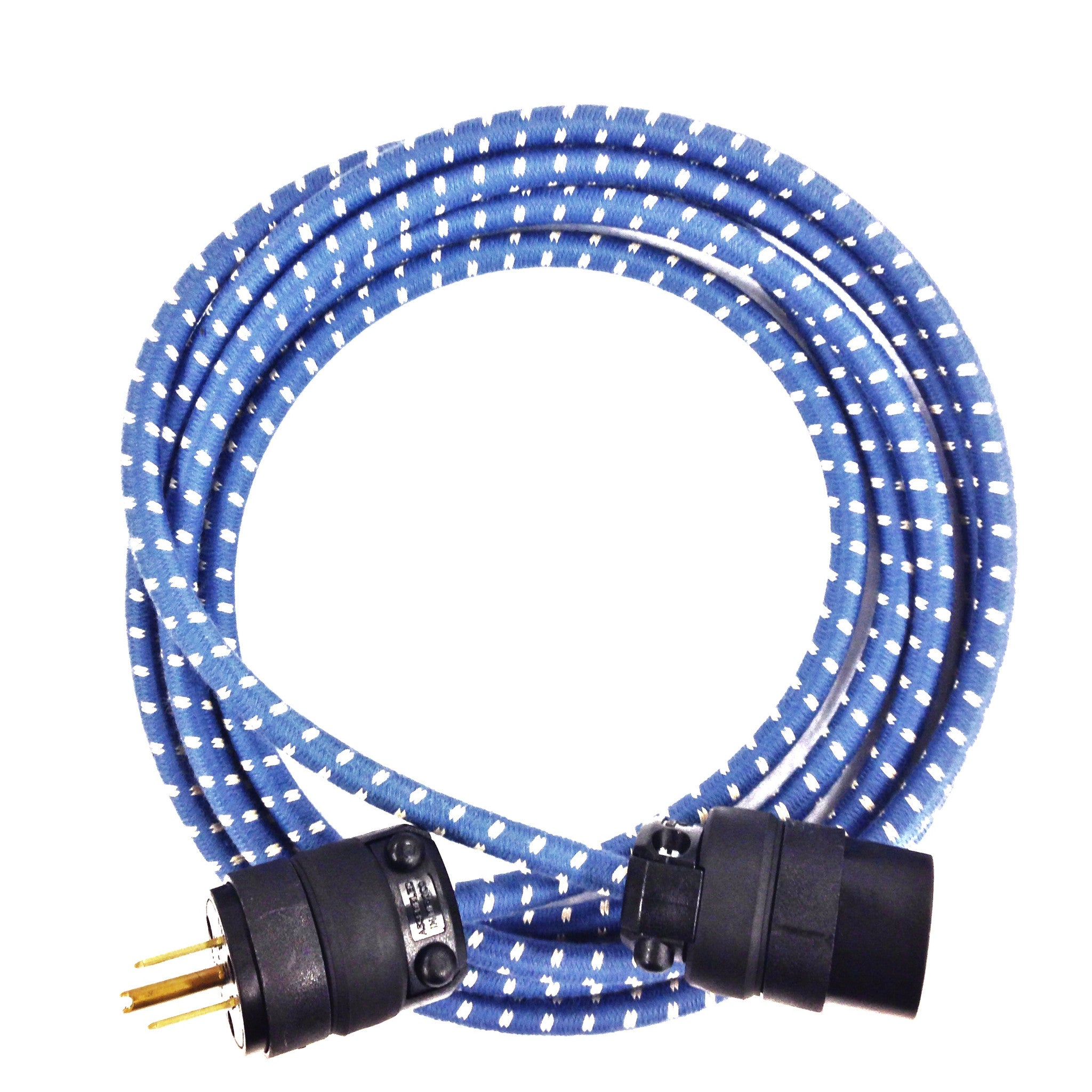 10' Extō Single Outlet Extension Cord - Solstice Blue & Natural White